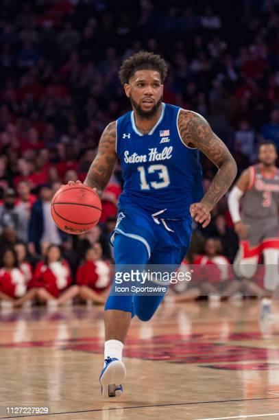 Seton Hall Pirates guard Myles Powell during the second half of the college basketball game between the Seton Hall Pirates and the St John's Red...