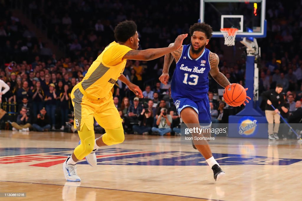 COLLEGE BASKETBALL: MAR 15 Big East Conference Tournament - Seton Hall v Marquette : News Photo