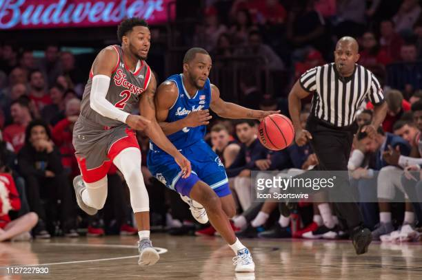 Seton Hall Pirates guard Quincy McKnight during the second half of the college basketball game between the Seton Hall Pirates and the St John's Red...