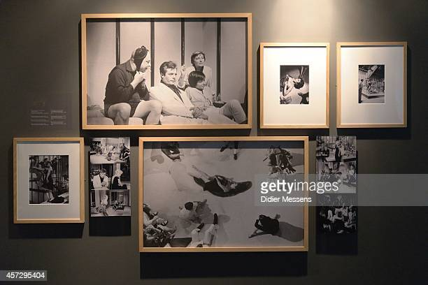 Setpictures of the movie La Dolce Vita are shown as part of the Fellini Exhibition at Caermersklooster on October 15 2014 in Ghent Belgium