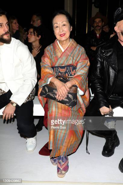 Setsuko Klossowska attends the Haider Ackermann show as part of the Paris Fashion Week Womenswear Fall/Winter 2020/2021 on February 29 2020 in Paris...