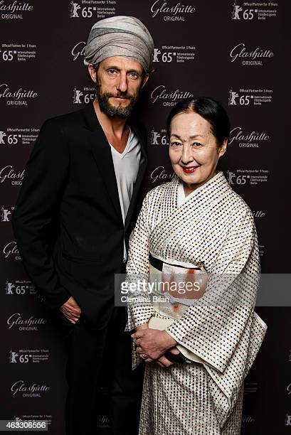 Setsuko Klossowska de Rola and Benoit Peverelli attend the Warm-Up at the Glashuette Original lounge during the 65th Berlinale International Film...