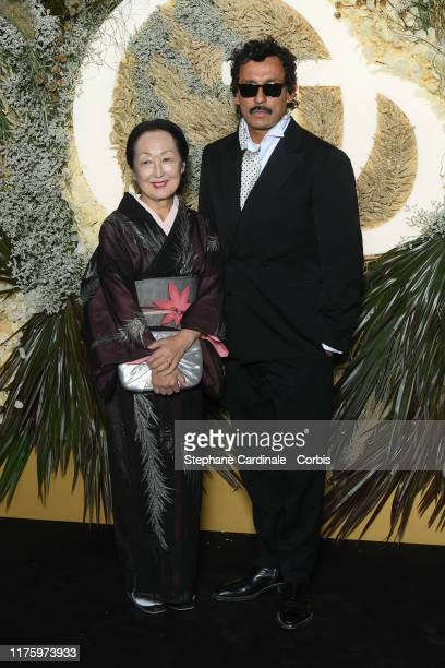 Setsuko Klossowska de Rola and Haider Ackermann attend the Opening Season Gala Opera National De Paris At Palais Garnier on September 20 2019 in...