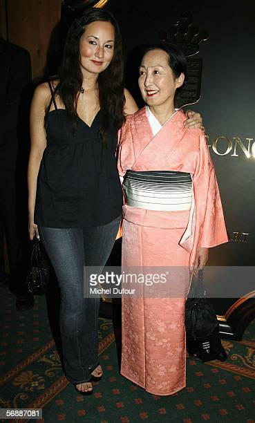 Setsuko Klossowska de Rola and her daughter Harumi Klossowski de Rola attend the De Grisogono high jewellery party at the Palace Hotel on February...