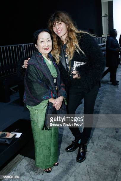 Setsuko Klossowska de Rola and Lou Doillon attend the Haider Ackermann show as part of the Paris Fashion Week Womenswear Spring/Summer 2018 on...
