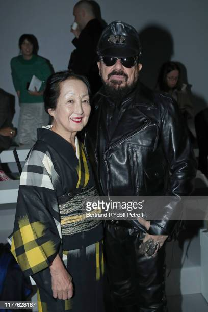 Setsuko Klossowska de Rola and Peter Marino attend the Haider Ackermann Womenswear Spring/Summer 2020 show as part of Paris Fashion Week on September...