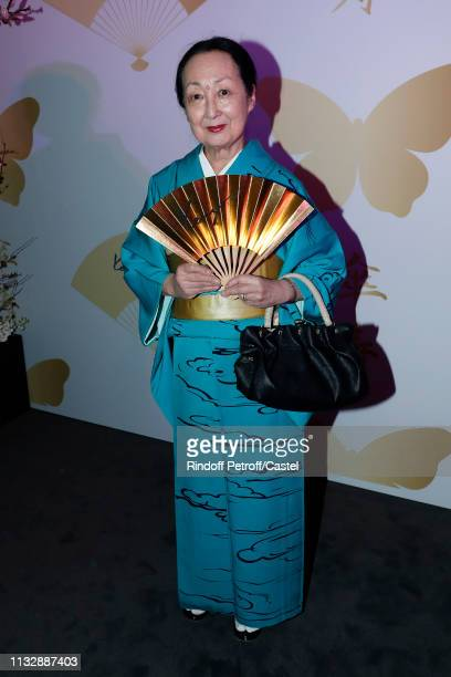 Setsuko Klossowska de Rola attends the 80th Kenzo Takada Birthday Party at Pavillon Ledoyen on February 28 2019 in Paris France