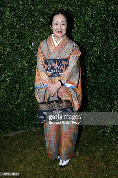 Setsuko Klossowska De Rola attends the Christian Dior Haute Couture Spring Summer 2017 show as part of Paris Fashion Week on January 23 2017 in Paris...