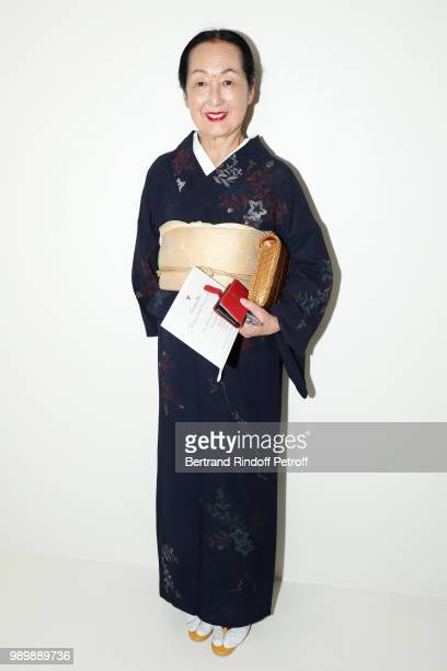 Setsuko Klossowska de Rola attends the Christian Dior Haute Couture Fall Winter 2018/2019 show as part of Paris Fashion Week on July 2 2018 in Paris...