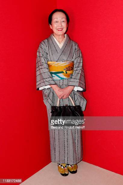 Setsuko Klossowska de Rola attends the Haider Ackermann show as part of the Paris Fashion Week Womenswear Fall/Winter 2019/2020 on March 02 2019 in...