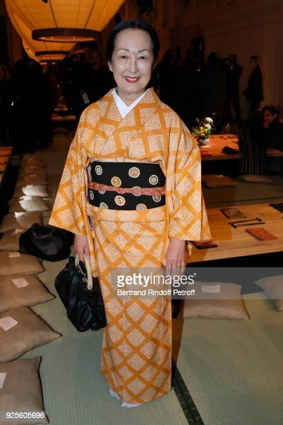 Setsuko Klossowska De Rola attends the H&M show as part of the Paris Fashion Week Womenswear Fall/Winter 2018/2019 on February 28, 2018 in Paris,...