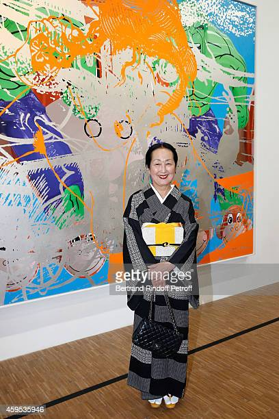 Setsuko Klossowska de Rola attends the 'Jeff Koons' Retrospective Exhibition : Opening Evening at Beaubourg on November 24, 2014 in Paris, France.