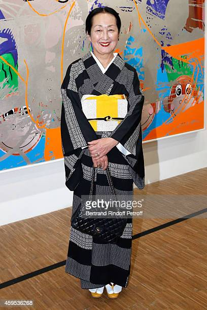 Setsuko Klossowska de Rola attends the 'Jeff Koons' Retrospective Exhibition Opening Evening at Beaubourg on November 24 2014 in Paris France