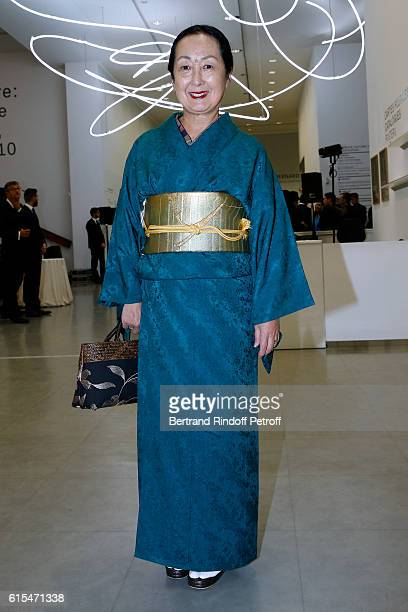 Setsuko Klossowska de Rola attends the Societe des Amis du Musee d'Art Moderne du Centre Pompidou Dinner Party in Paris at Centre Pompidou on October...