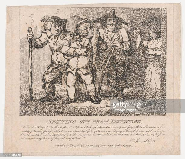 Setting out from Edinburgh May 30 1786 Artist Thomas Rowlandson