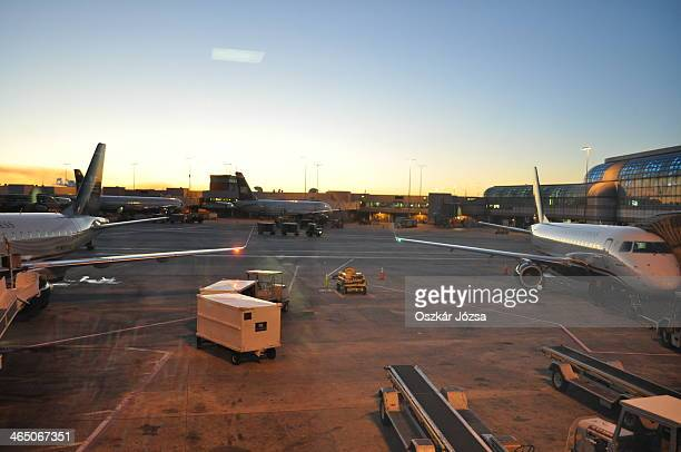 CONTENT] Setting sun at Louis Armstrong New Orleans International Airport