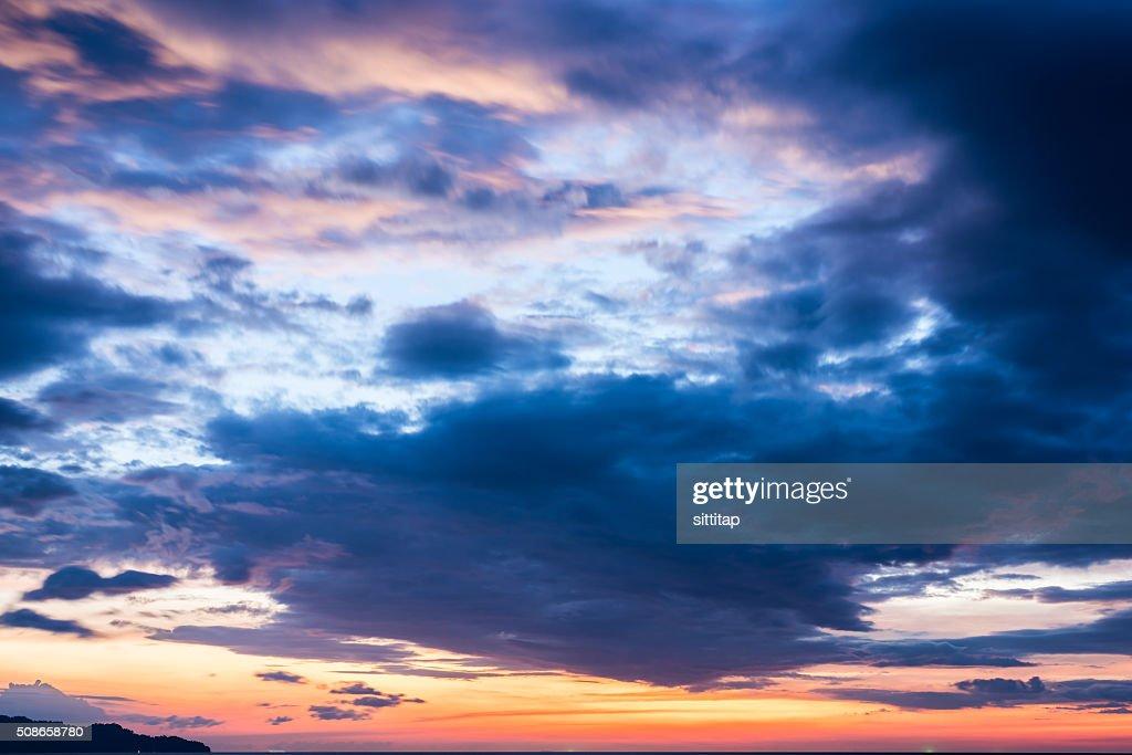 Setting Sun Bay View : Stock Photo