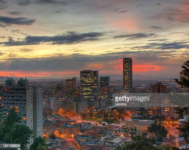 Sonnenuntergang über Bogotá