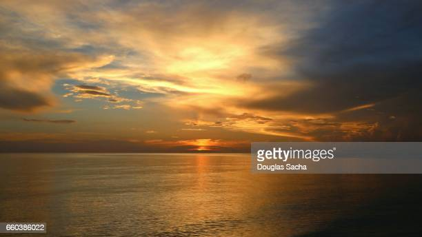 Setting sun over the Gulf of Mexico