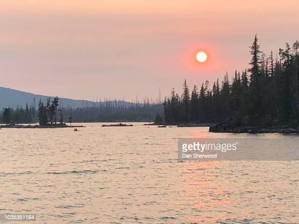 Setting Sun over Waldo Lake