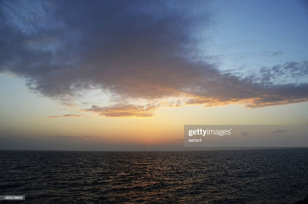 Setting sun : Stock Photo