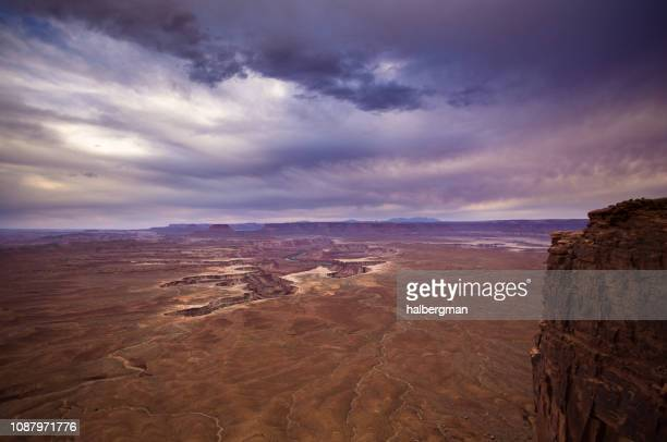 Setting Sun Staining Clouds in Canyonlands National Park