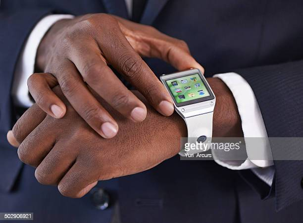 setting the time - smart watch stock pictures, royalty-free photos & images
