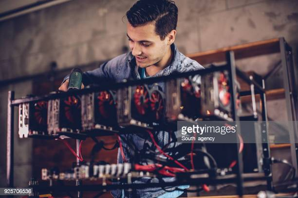 Setting up gear for mining bitcoin