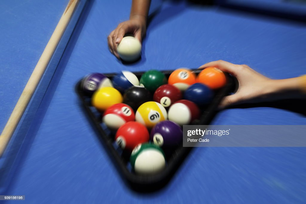 Setting Up Pool Table Stock Photo Getty Images - How do you set up a pool table
