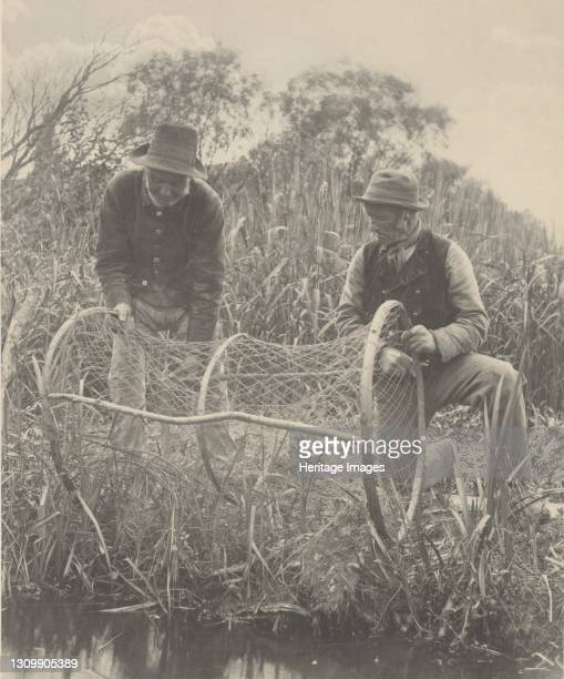 Setting Up the Bow-Net, 1886. Artist Dr Peter Henry Emerson. .