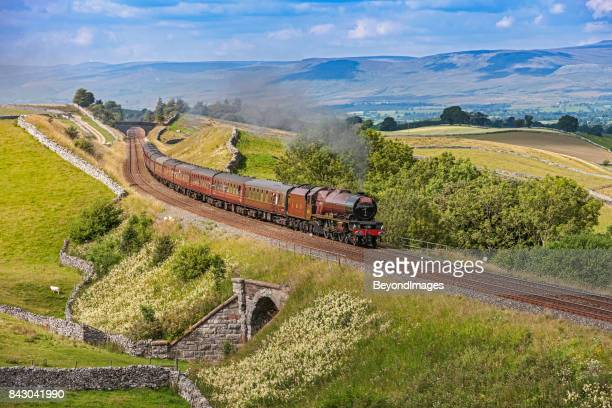 Settle Carlisle steam train tour in picturesque Yorkshire Dales scenery