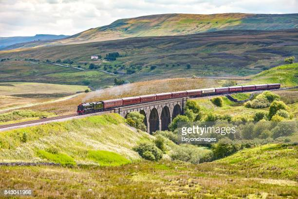 Settle Carlisle steam train tour in spectacular Yorkshire Dales scenery