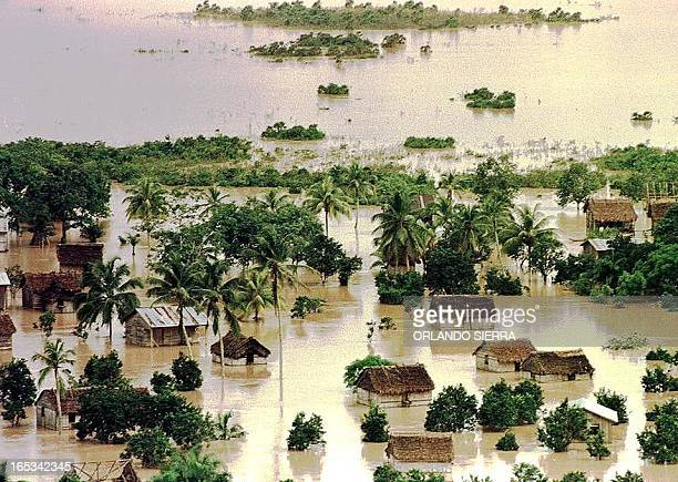 A settlement in the La Mosquitia province northeast Honduras remain flooded 03 November by flood waters from the after the Segovia River after the...