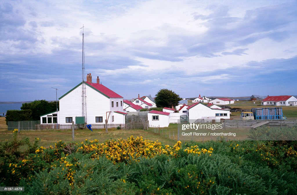 'Settlement of Goose Green, Falkland Islands, South America' : Foto de stock