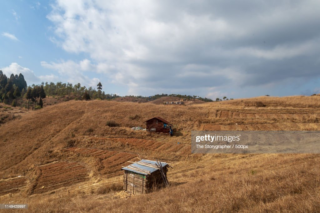 Settlements High In The Mountains : Stock Photo