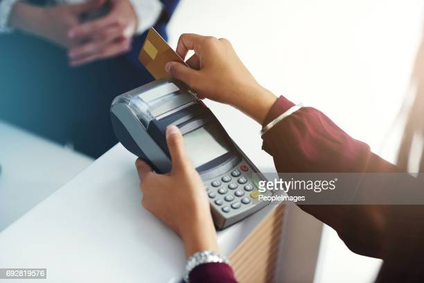 Settling a charge by card
