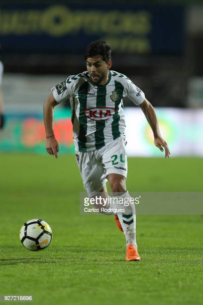 Setubal forward Joao Amaral from Portugal during the Primeira Liga match between Vitoria Setubal FC and Rio Ave FC at Estadio do Bonfim on March 3...