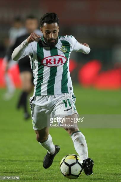 Setubal midfielder Joao Costinha from Portugal during the Primeira Liga match between Vitoria Setubal FC and Rio Ave FC at Estadio do Bonfim on March...