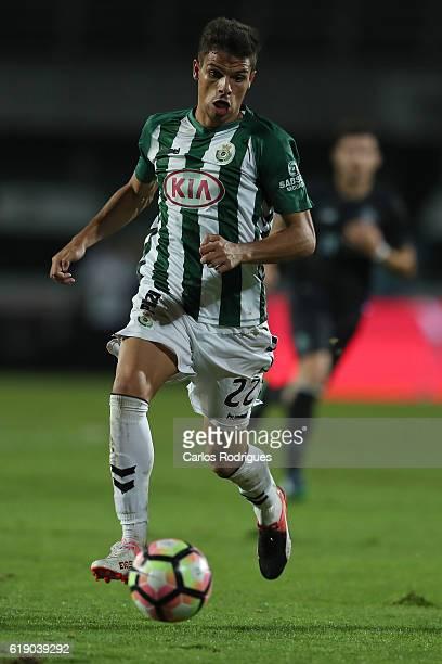 Setubal's defender Andre Geraldes from Portugal during the Setubal v Porto Primeira Liga at Estadio do Bonfim on October 29 2016 in Setubal Portugal