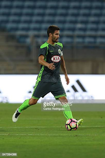 Setubal's defender Frederico Venancio during the Pre Season match between SL Benfica and Vitoria Setubal at Estadio do Algarve on July 14 2016 in...