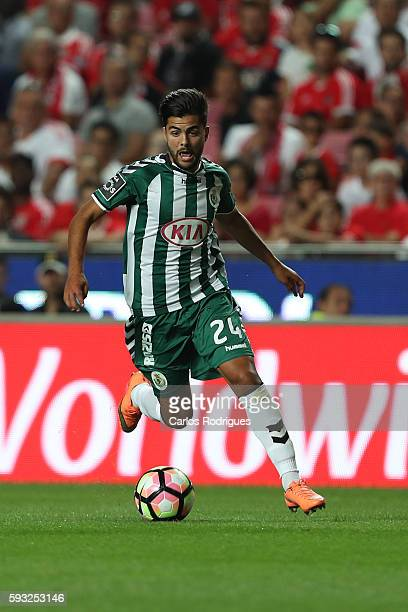 Setubal's forward Joao Amaral from Portugal during the match between SL Benfica and Vitoria Setubal FC for the Portuguese Primeira Liga at Estadio da...
