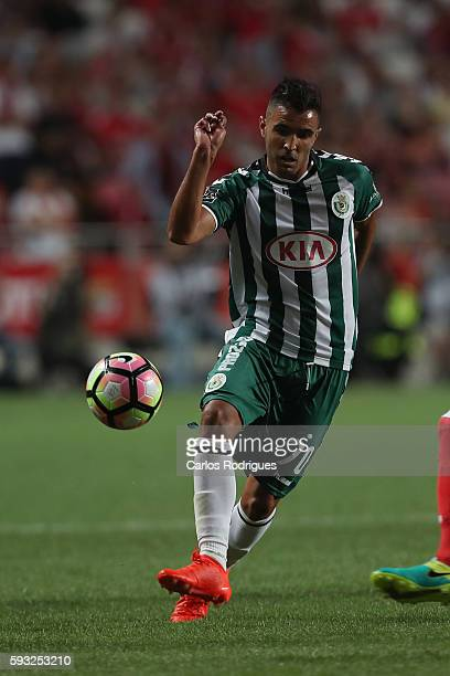 Setubal's forward Jose Manuel from Portugal during the match between SL Benfica and Vitoria Setubal FC for the Portuguese Primeira Liga at Estadio da...