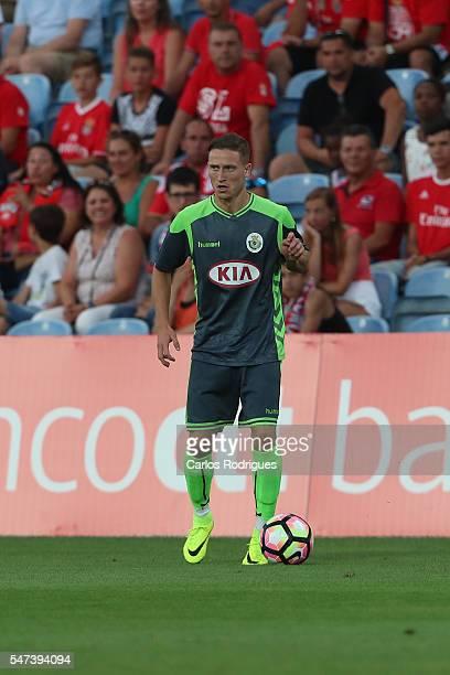 Setubal's forward Nuno Santos during the Pre Season match between SL Benfica and Vitoria Setubal at Estadio do Algarve on July 14 2016 in Faro...