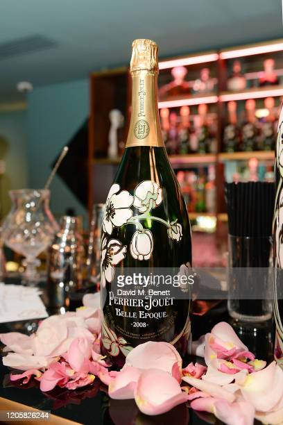 Setup shots at a Valentine's Day dinner hosted by PerrierJouet Champagne and Atelier Romy at IT London on February 12 2020 in London England