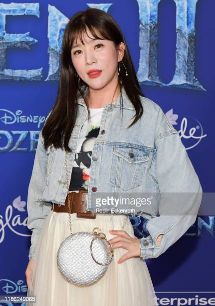SeulGi An attends the Premiere of Disney's Frozen 2 at Dolby Theatre on November 07 2019 in Hollywood California