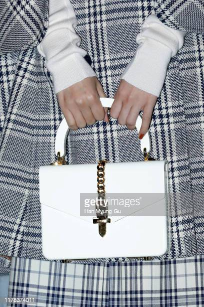Seulgi bag detail of girl group Red Velvet attends the Photocall for 'Gucci' Cruise 2020 Campaign Party on October 01 2019 in Seoul South Korea