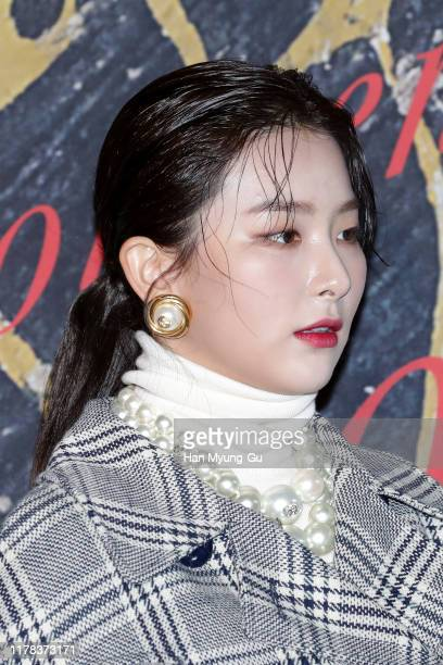 Seulgi earing detail of girl group Red Velvet attends the Photocall for 'Gucci' Cruise 2020 Campaign Party on October 01 2019 in Seoul South Korea