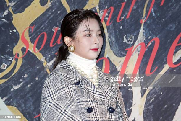 Seulgi necklace detail of girl group Red Velvet attends the Photocall for 'Gucci' Cruise 2020 Campaign Party on October 01 2019 in Seoul South Korea