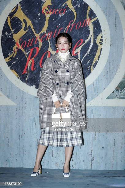 Seulgi of girl group Red Velvet attends the Photocall for 'Gucci' Cruise 2020 Campaign Party on October 01 2019 in Seoul South Korea