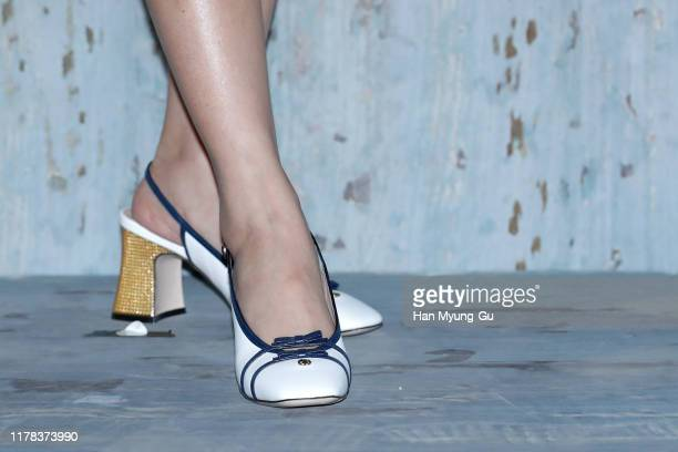 Seulgi shoe detail of girl group Red Velvet attends the Photocall for 'Gucci' Cruise 2020 Campaign Party on October 01 2019 in Seoul South Korea